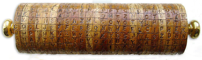 Reproduction of Jefferson's Wheel Cipher created by Ronald Kirby.